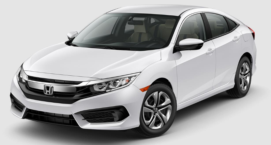 2017 Honda Civic Taffeta White