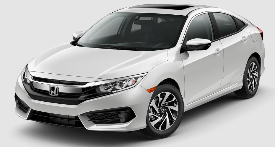 2017 Honda Civic White Orchid Pearl