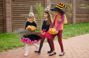Kids trick or treating 2017
