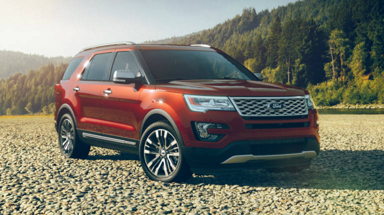 2017 Ford Explorer In Ruby Red