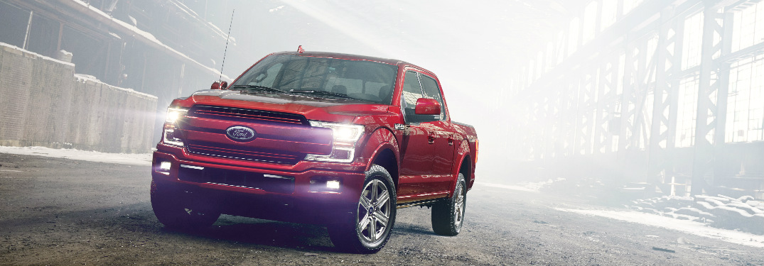 red 2018 Ford F-150 exterior front