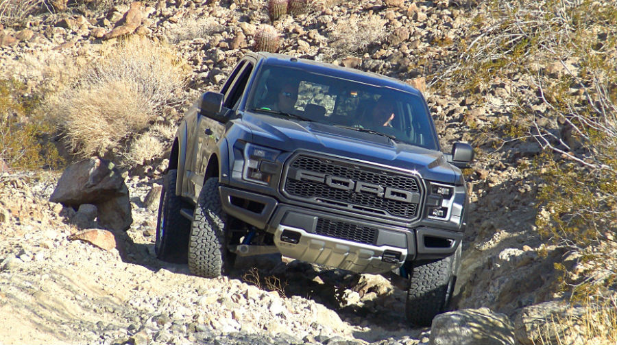 2017 Raptor is more than capable of handling rocky terrain