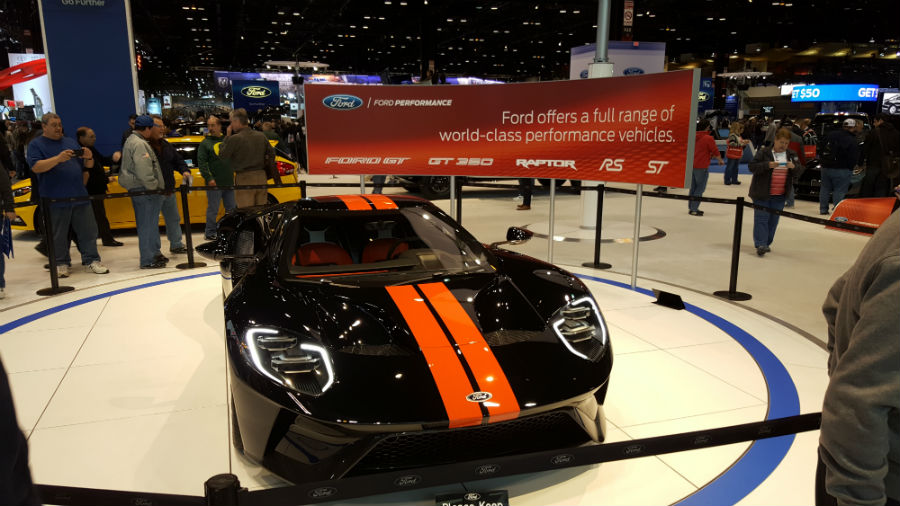 Ford GT on display Chicago Auto Show