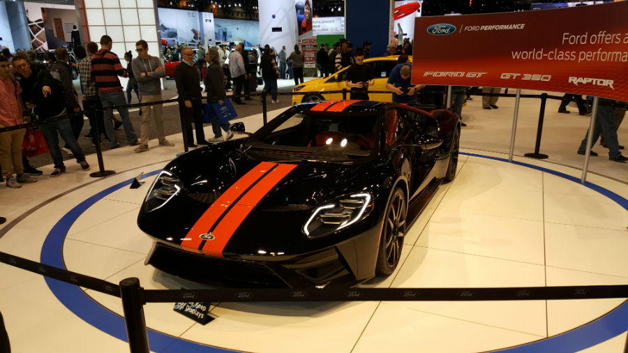 No you can't drive the 2018 Ford GT at the Chicago Auto Show