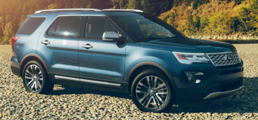 2017 Ford Explorer Blue Jean