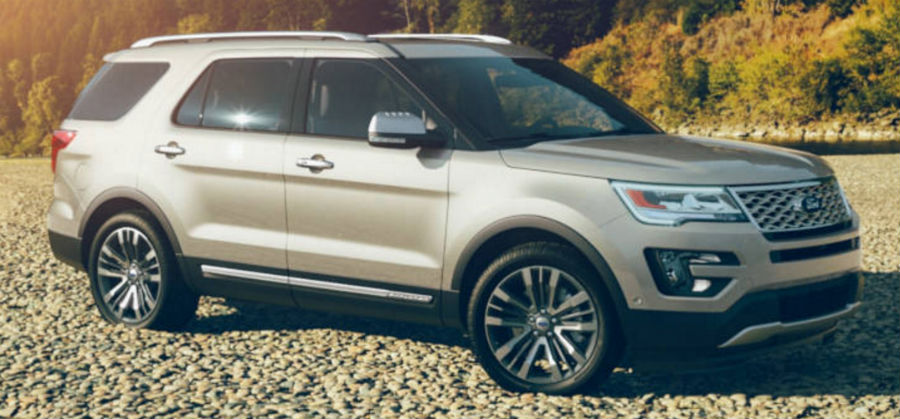 2017 Ford Explorer White Gold