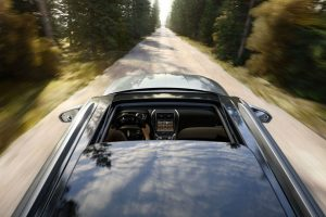 Exterior top moonroof view of 2017 Lincoln MKX