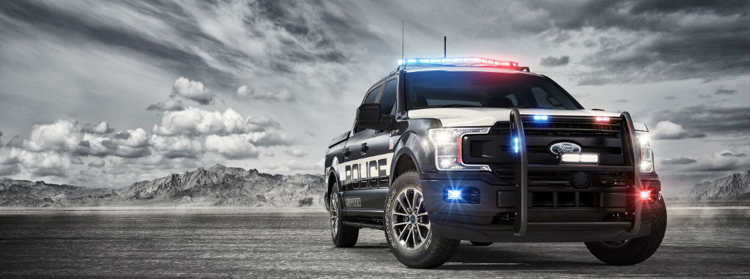Front exterior against cloudy sky - Ford Has Created the First Pursuit-Rated Police Responder Pickup Truck