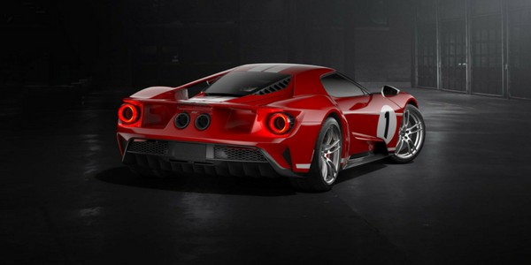 Rear View of 2018 Ford GT '67 Heritage Edition