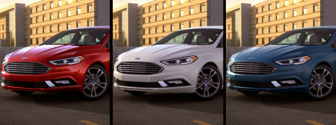 Which paint colors are available on the 2018 Ford Fusion exterior?