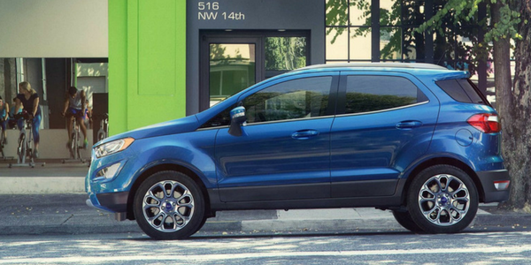 2018 Ford EcoSport Blue Exterior Side View