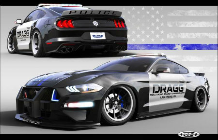 2018 Ford Mustang Fastback by DRAGG front and back view