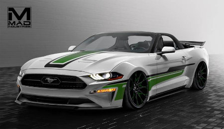 2018 Ford Mustang Convertible by MAD Industries front view