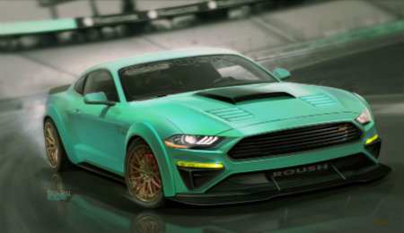 """2018 729 Wide-Body Mustang """"TriAthlete"""" by Roush front view"""