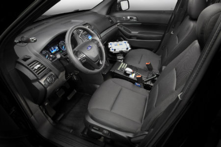 2016 Ford Police Interceptor Utility front seat interior