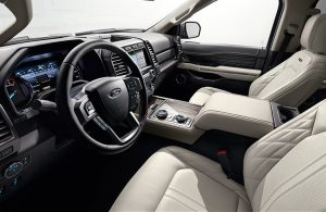 2018 Ford Expedition front seats and steering wheel
