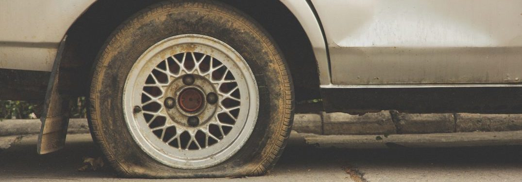 Concept Image of flat tire background texture