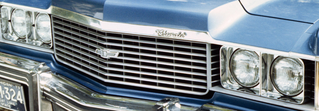 grille close-up of the 1974 chevy impala