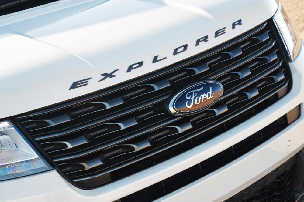 grille view of a 2017 Ford Explorer Sport