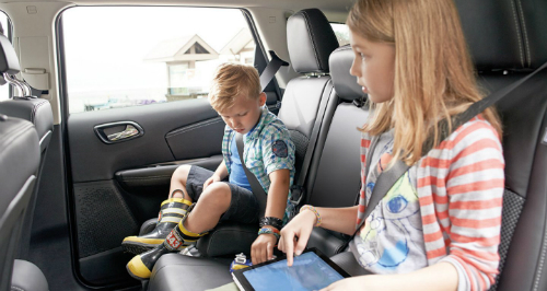 2017 Dodge Journey with kids
