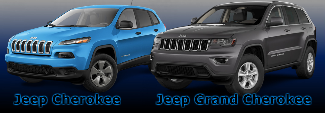 2017 Jeep Cherokee and 2017 Jeep Grand Cherokee