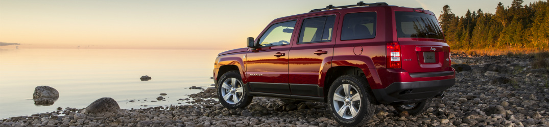2017 Jeep Patriot on the shoreline