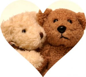 Bears for Valentines Day in Heart Shape