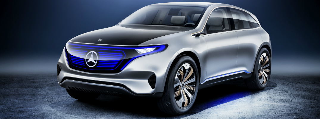 What is the range of the all-electric Mercedes-Benz Generation EQ?