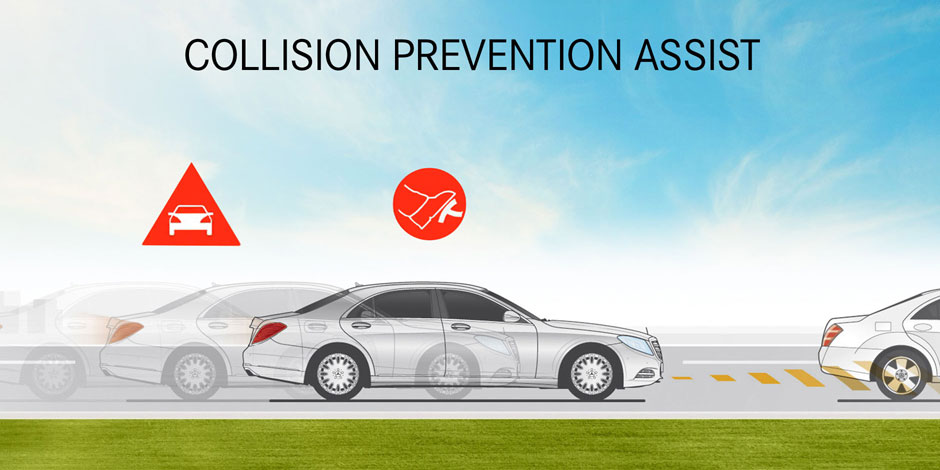 2017 mercedes benz c class vehicle safety features for Mercedes benz collision prevention assist