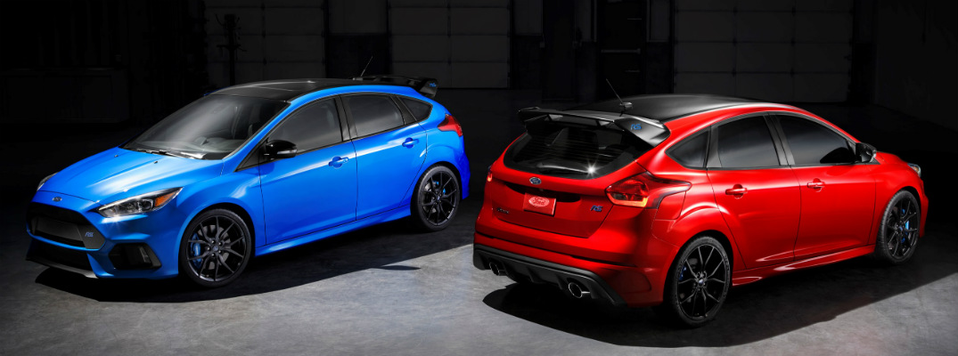 How are the Limited Edition Ford Focus RS models different?