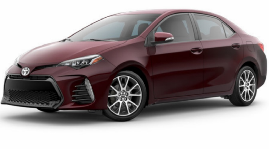 2017 Toyota Corolla in Black Cherry Pearl