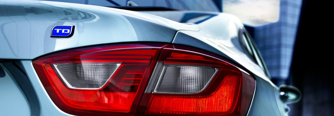 Taillight of the 2017 Chevy Cruze Diesel Sedan