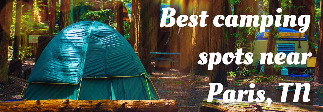 Tent in a wooded campground