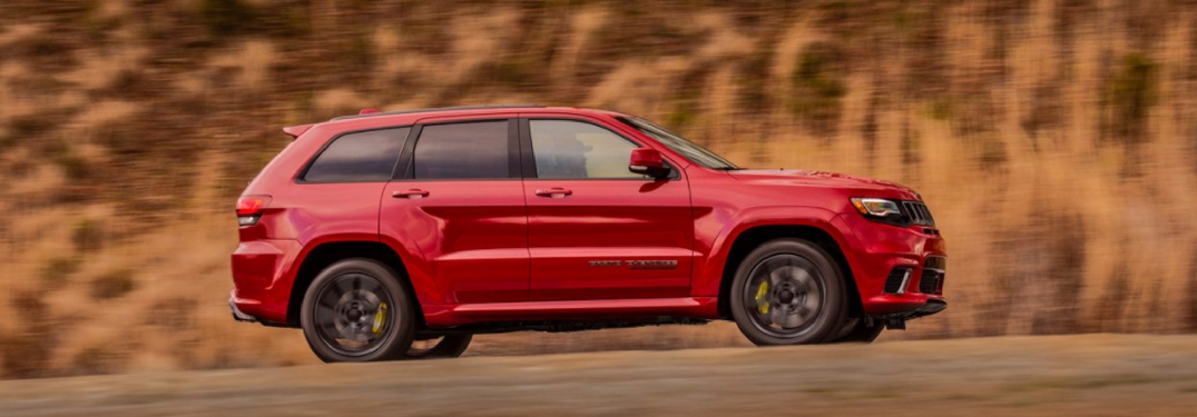 2018 Jeep Grand Cherokee Trackhawk in red