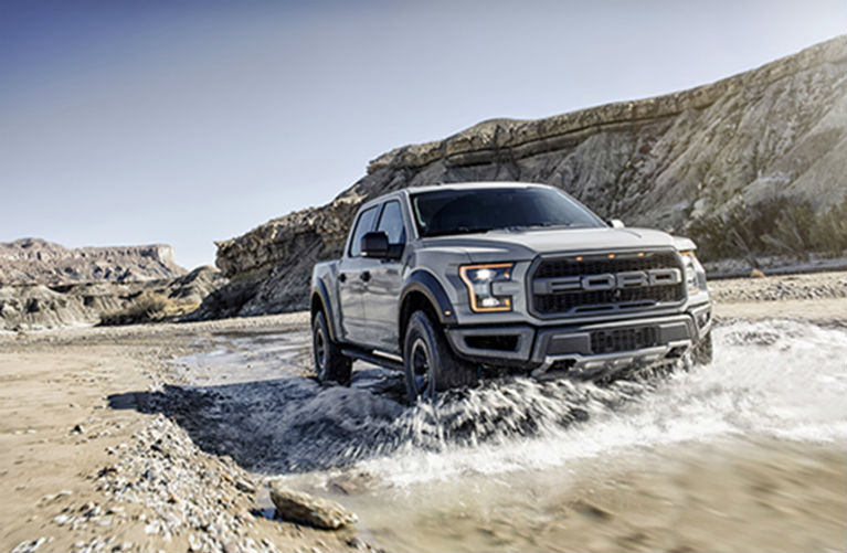 White 2017 Ford F 150 Raptor Fording Water o Les Stumpf Ford