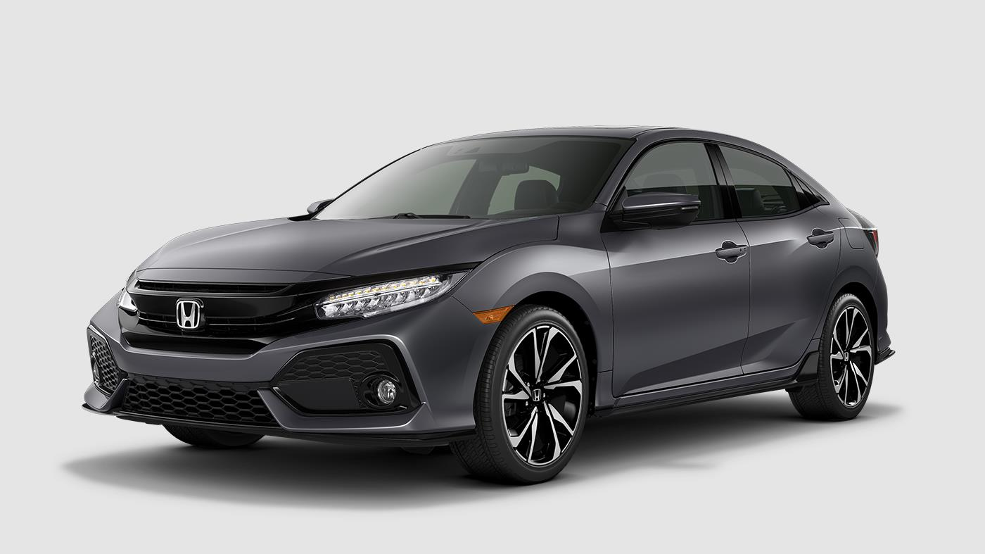 what are the 2018 honda civic hatchback color options