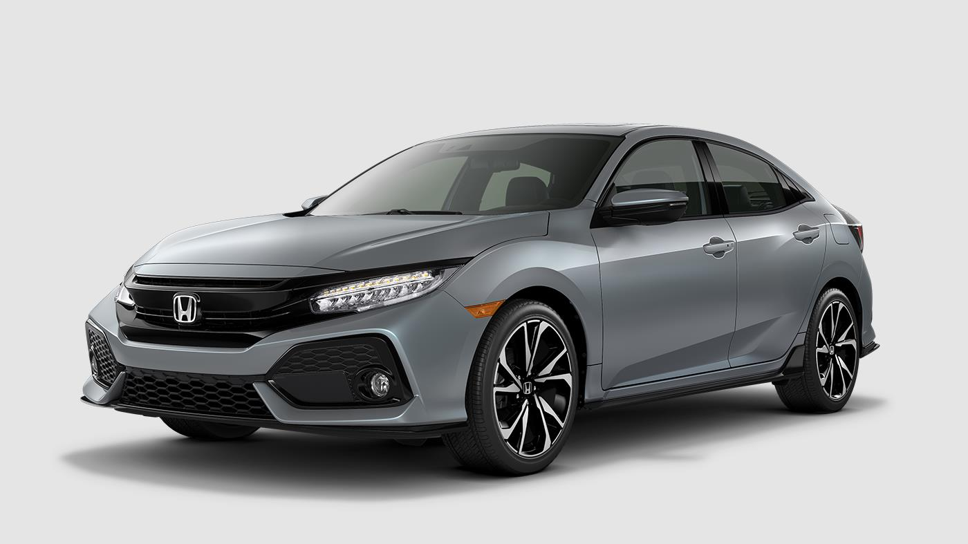 2018 Honda Civic Hatchback Color Options Sonic Gray