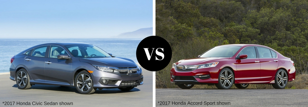 2017 honda civic vs the 2017 honda accord for Honda accord vs honda civic