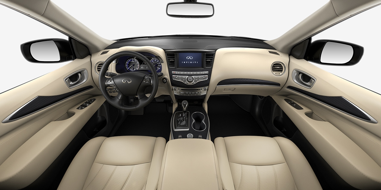 2017 INFINITI QX60 Wheat Graphite Interior