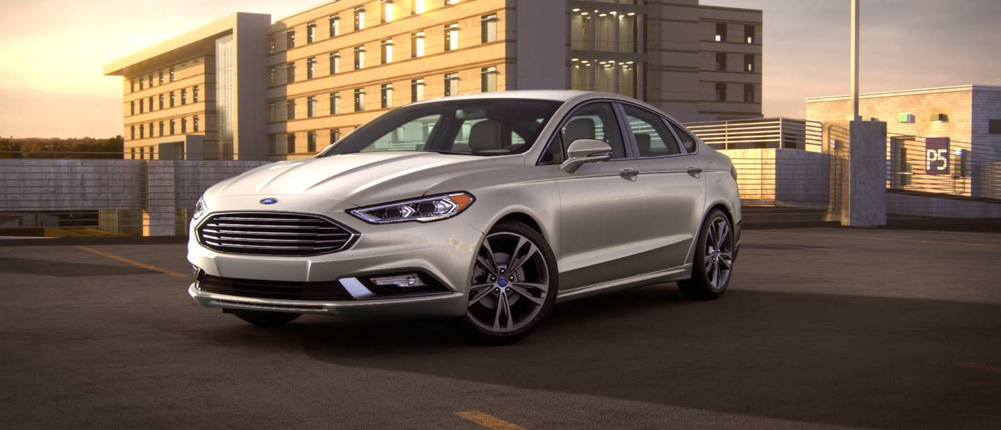 2018 Ford Fusion White Gold