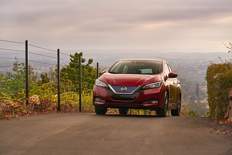 2018 Nissan LEAF Red Exterior
