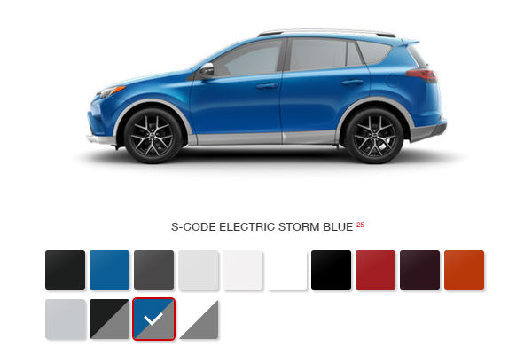What Are The 2016 Toyota Rav4 Color Options