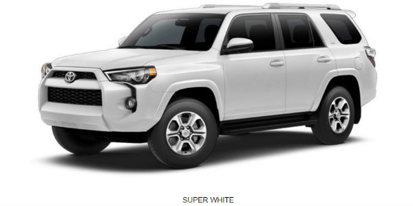 Exterior Color Options For The 2017 Toyota 4runner