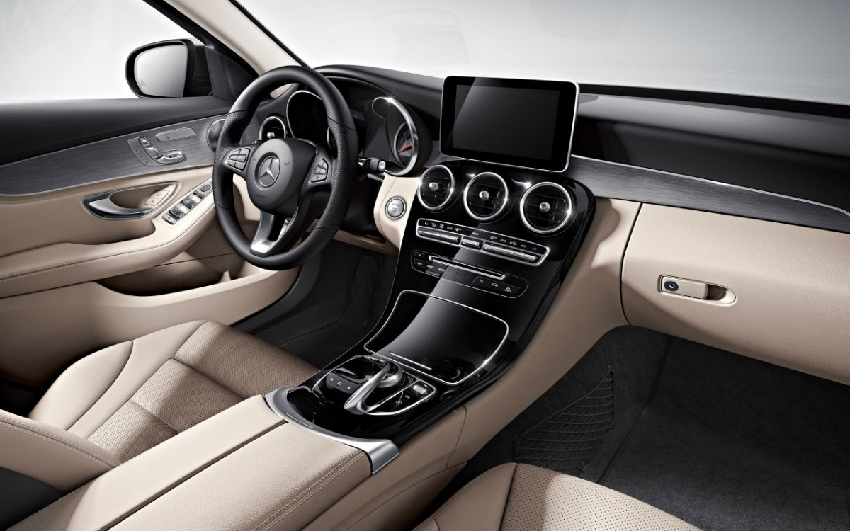 2017 mercedes benz c class sedan specs features for Mercedes benz interiors