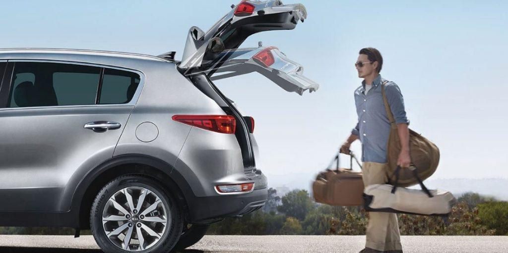 Kia Sportage has plenty of cargo room for vacation or road trips