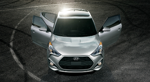 2017 Hyundai Veloster with three doors & How many doors does the Veloster have?