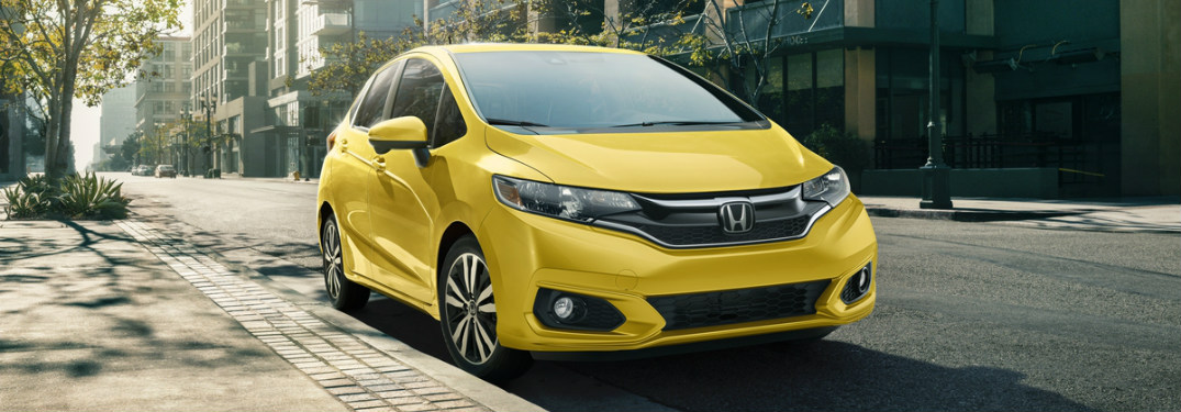 2018 Honda Fit front view yellow