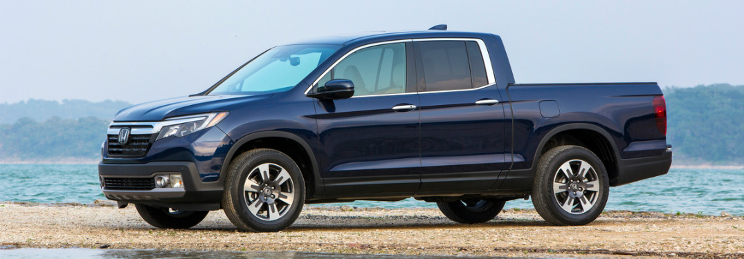 2018 Honda Ridgeline at the beach