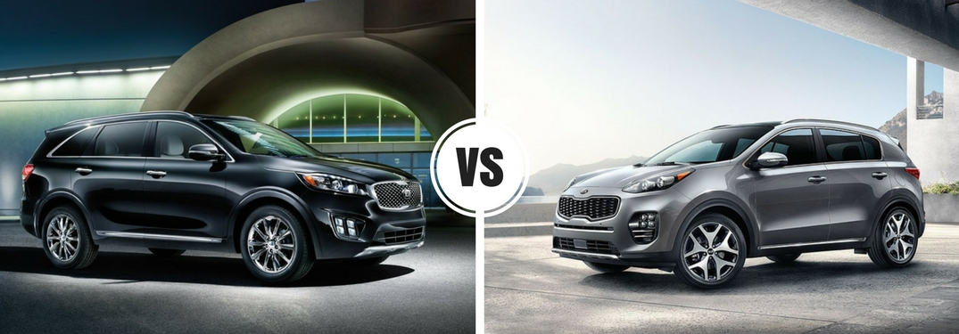2018 Kia sportage vs Kia Sorento size Dayton, Oh which is bigger?