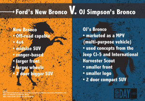 Ford's New Bronco V. OJ Simpson's Bronco